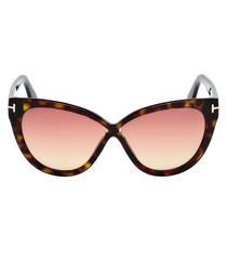 Dark Havana cat eye sunglasses