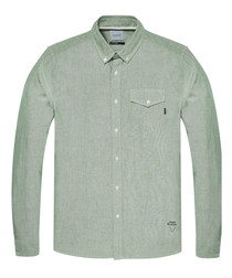 Alpine green pure cotton shirt