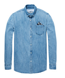 Blue denim pure cotton shirt