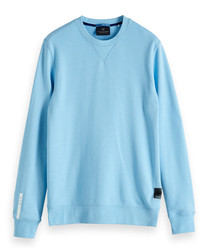 Alpine blue cotton blend sweatshirt