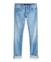 Lucky Blauw light blue cotton jeans