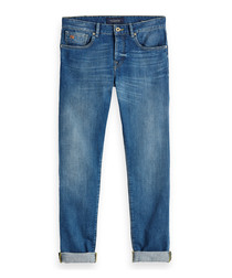 Blauw Touch blue cotton jeans