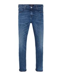 Delfts Tattoo blue cotton jeans