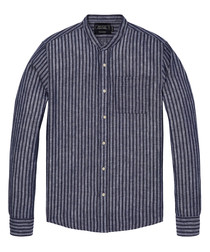 Multi stripes linen & cotton shirt