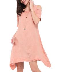 Mandarine pure linen mini dress