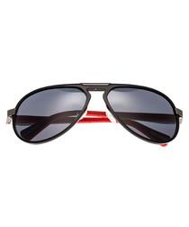 Octans black aviator sunglasses
