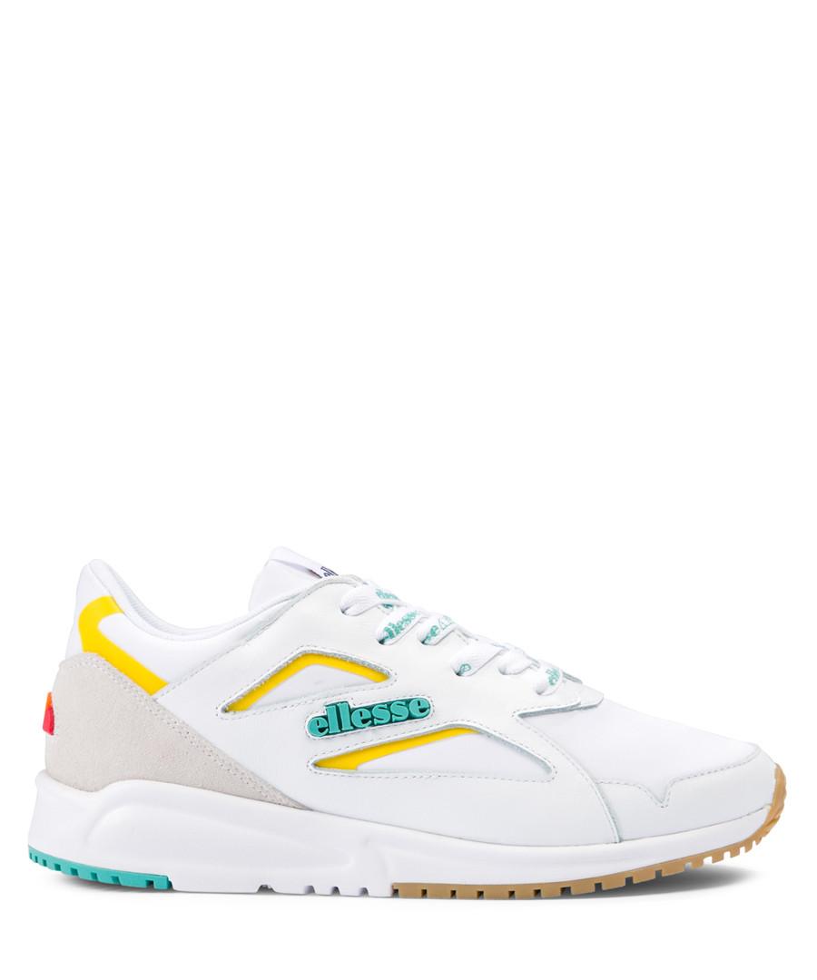 Contest white & sea blue sneakers Sale - ellesse