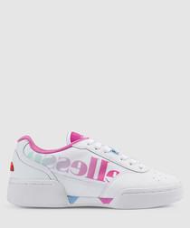 Piacentino white & pink logo sneakers
