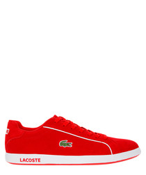 Graduate 219 red & white suede sneakers