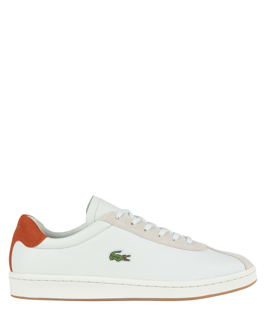 Masters 119 white & red leather sneakers Sale - lacoste