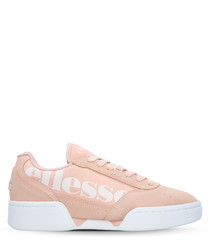 Piacentino dusty pink suede sneakers