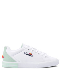 Taggia white & dusty aqua sneakers