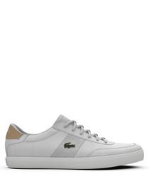 court-master 119 white leather sneakers