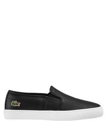 Gazon black leather slip-ons