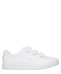 Carnaby evo white leather sneakers