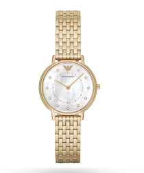 Gold-plated quartz watch