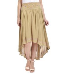Cornstalk hi-low skirt