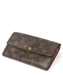 Sarah brown canvas monogram purse