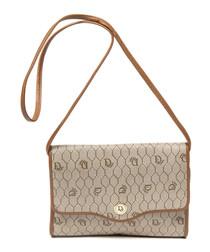 Vintage Flap beige sling bag