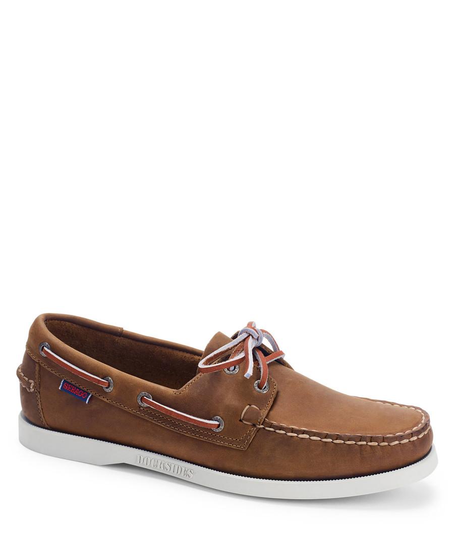 Docksides Portland Brown boat shoes Sale - sebago