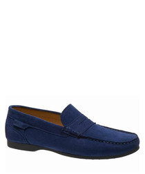 Trenton Penny blue suede loafers