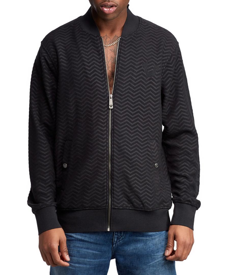 LS Chevron black bomber jacket Sale - true religion