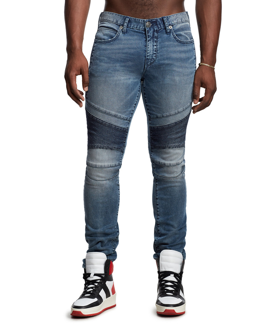 Rocco blue contrast skinny jeans Sale - true religion
