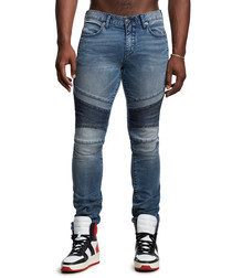 Rocco blue contrast skinny jeans