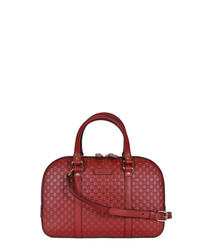 Guccissima small red leather bag