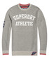 Grey Marl & Navy Track Squad Crew Sale - superdry Sale