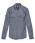 Blue Herringbone Fjordmans Work Shirt Sale - superdry Sale