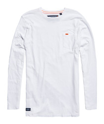 Optic White Dry Originals Longline Long Sleeve T-Shirt