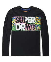 Black Acid Pacifica Oversize Long Sleeve T-Shirt