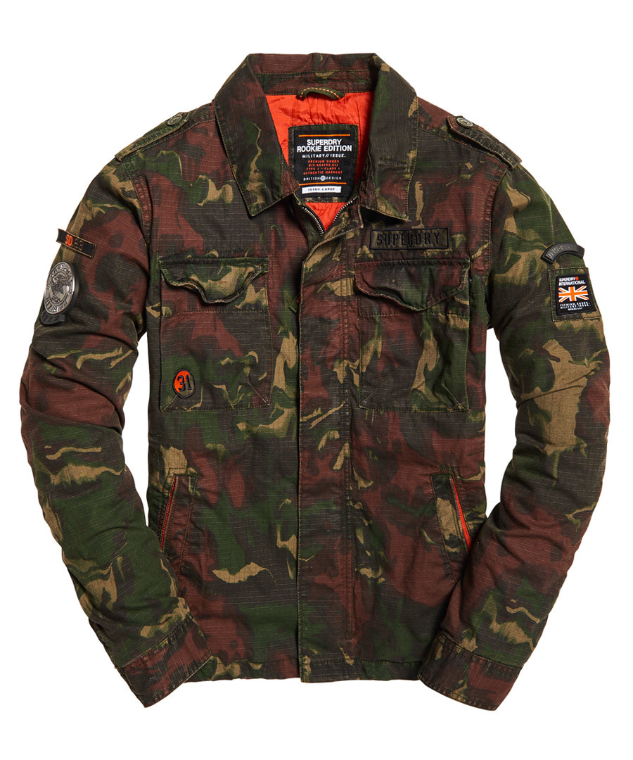Ghost Camo Limited Edition Flight Bomber Jacket Sale - superdry