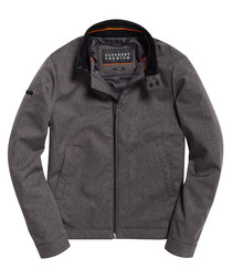 Heather Grey Herringbone Premium Casual Harrington Jacket