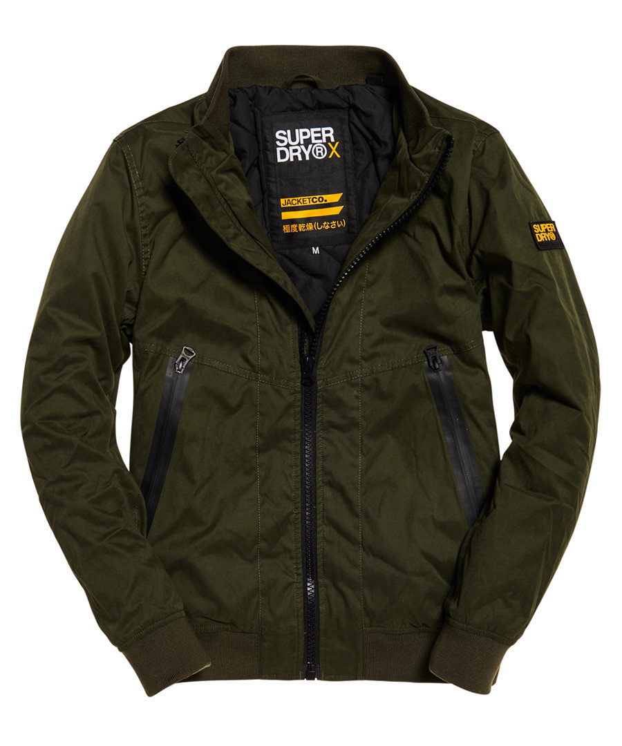 Khaki Premium Houndstooth Harrington Jacket Sale - superdry