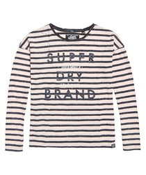 Kiss Pink Stripe California Long Sleeve Top