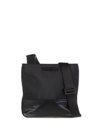 Black contrast messenger bag