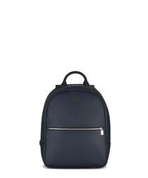 Blue zip pocket backpack