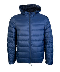 Blue padded zip-up coat