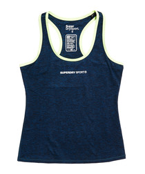 Gritty Teal Superdry Sport Core Gym Vest