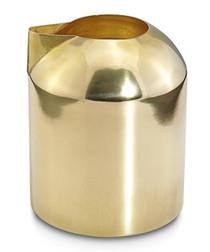 Gold-tone brass foam milk jug