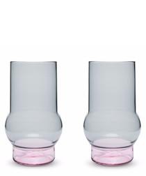 2pc Bump tall glass set