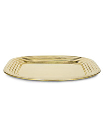 Form gold-tone square tray