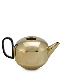Form gold-tone brass tea pot