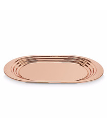 Copper-plated stainless steel tray