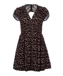 Pretty Baby black printed mini dress