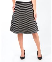 Sia micro-stripe skirt