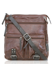 chocolate brown leather crossbody