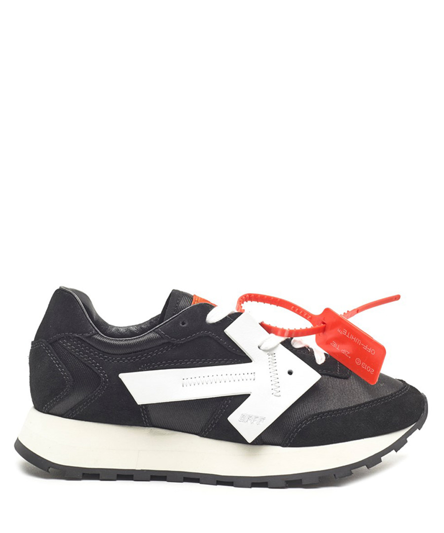 Black leather tagged sneakers Sale - off-white
